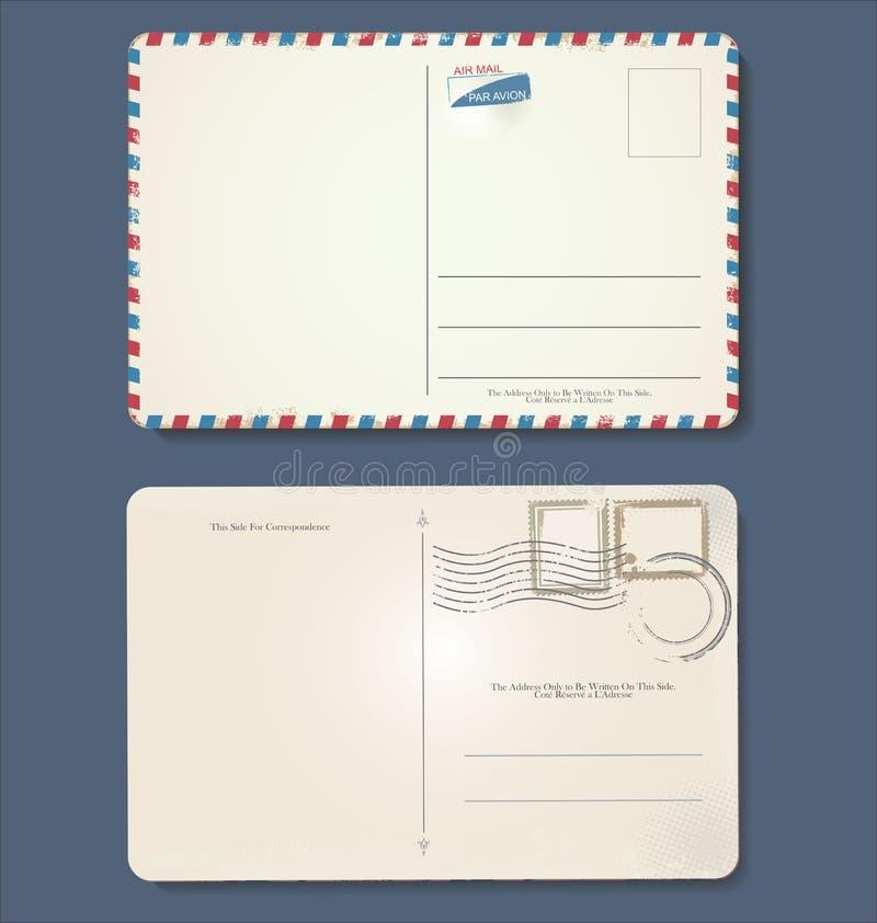 Дизайн пустой открытки grunge ретро винтажный бесплатная иллюстрация