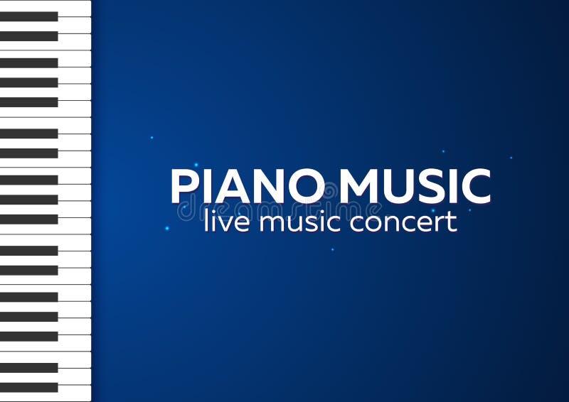 Дизайн плаката концерта рояля Концерт живой музыки пользует ключом рояль также вектор иллюстрации притяжки corel иллюстрация вектора