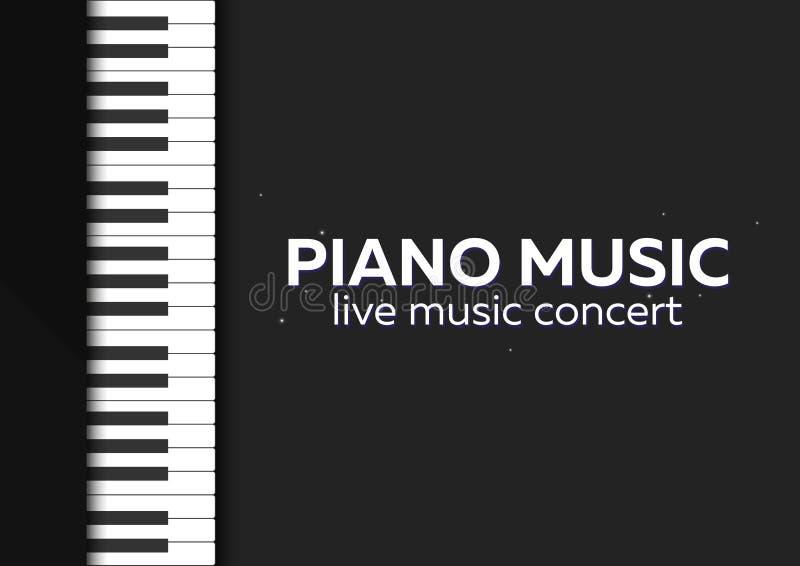 Дизайн плаката концерта рояля Концерт живой музыки пользует ключом рояль также вектор иллюстрации притяжки corel иллюстрация штока