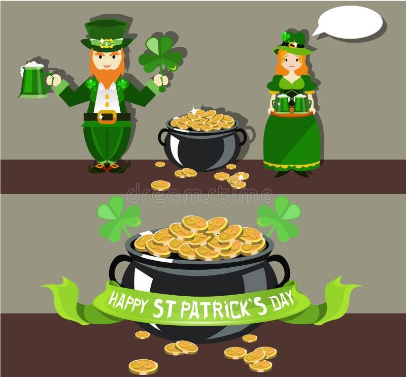Дизайн плаката дня ` s St. Patrick иллюстрация штока