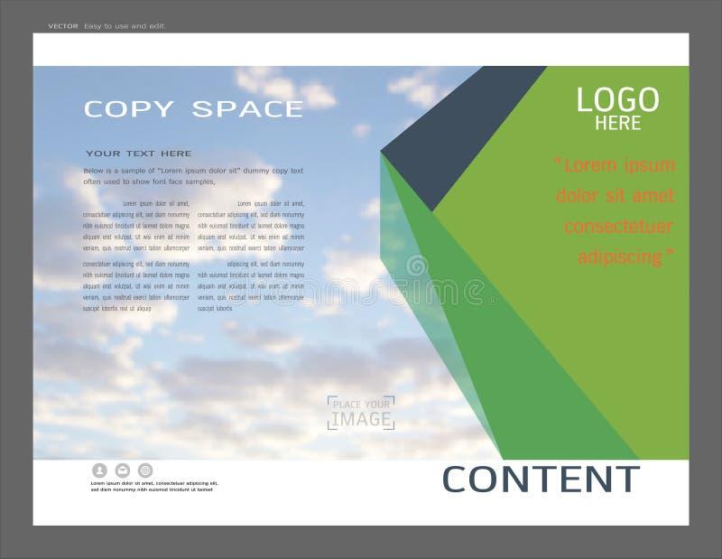 Дизайн плана представления для шаблона обложки дела иллюстрация вектора