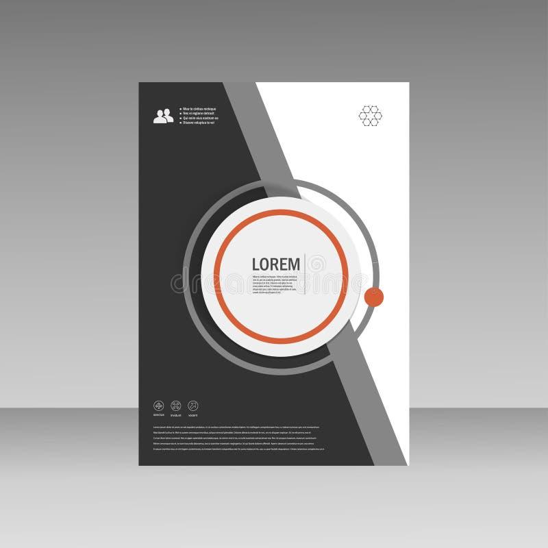 Дизайн размера шаблона A4 рогульки брошюры листовки вектора, годовой отчет, дизайн плана обложки книги, абстрактный дизайн крышки иллюстрация вектора