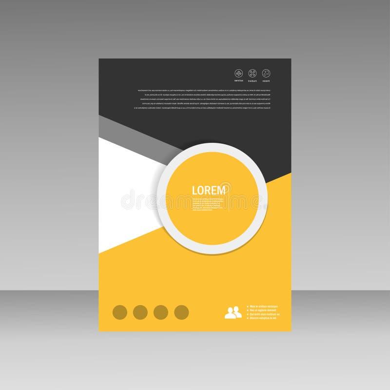 Дизайн размера шаблона A4 рогульки брошюры листовки вектора, годовой отчет, дизайн плана обложки книги, абстрактный дизайн крышки бесплатная иллюстрация