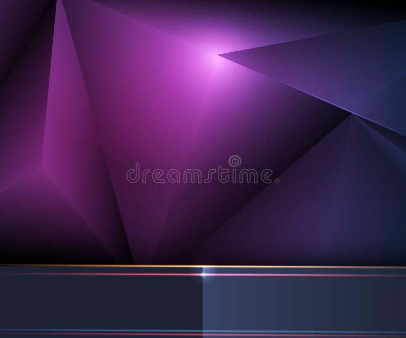Дизайн рамки металла вектора с низким полигоном Серебр иллюстрации металлический, золото, темная - голубой - черная наградная пре иллюстрация штока