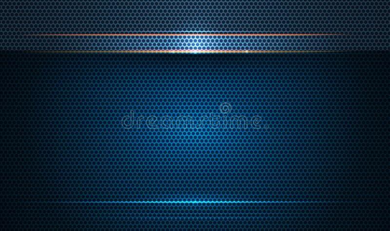 Дизайн рамки металла для предпосылки Концепция цифровой технологии дизайна вектора современная для обоев, шаблона знамени бесплатная иллюстрация