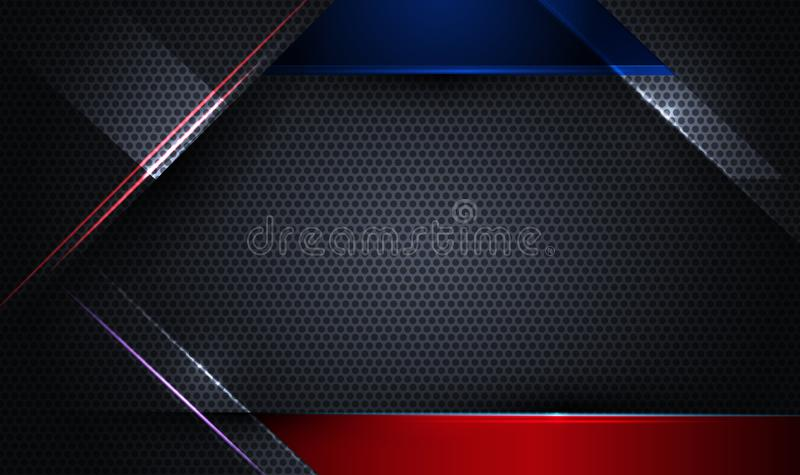 Дизайн рамки металла для предпосылки Концепция цифровой технологии дизайна вектора современная для шаблона знамени бесплатная иллюстрация