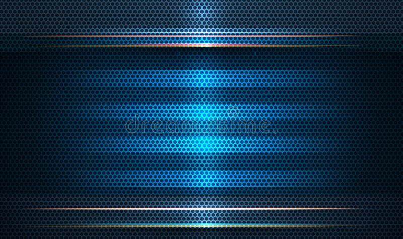 Дизайн рамки металла Концепция цифровой технологии дизайна вектора современная для bavkground иллюстрация штока
