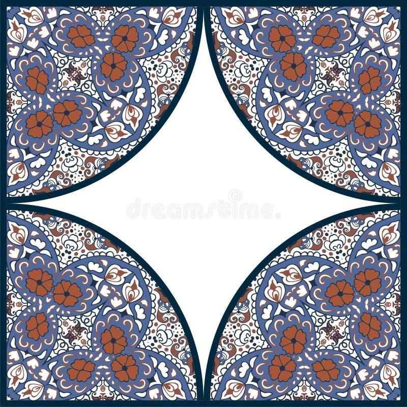 Дизайн рамки Пейсли и цветка картина ретро бесплатная иллюстрация