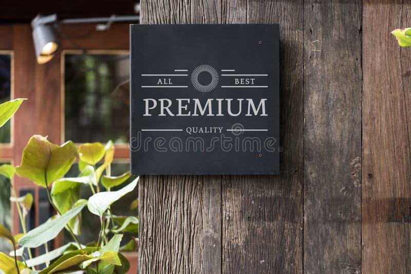Дизайн рекламы signage модель-макета внешний стоковые фото