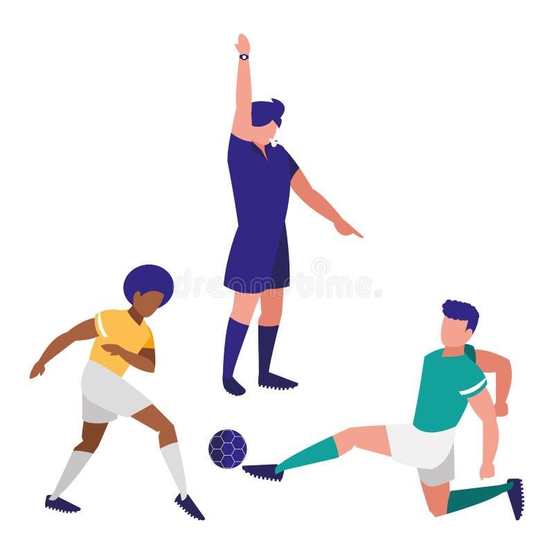 Дизайн рефери футбола бесплатная иллюстрация