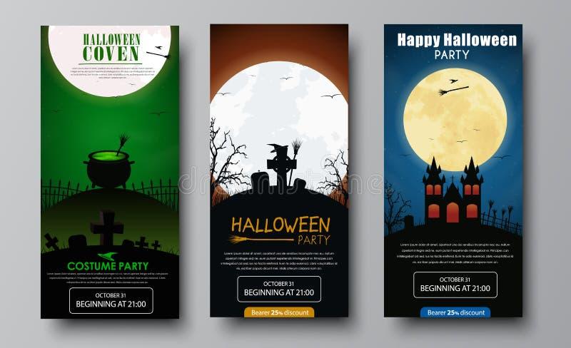 Дизайн рогулек для партии хеллоуина иллюстрация штока
