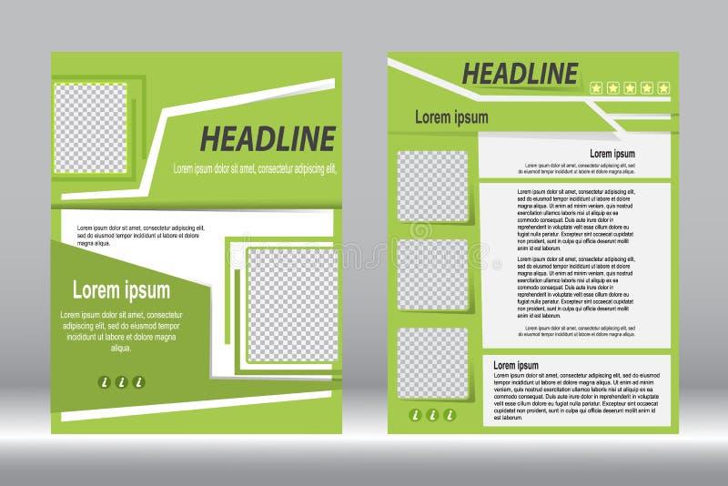 Download Дизайн рогульки, конспект зеленого цвета шаблона брошюры Vector назад Иллюстрация вектора - иллюстрации насчитывающей дело, приветствие: 81809844