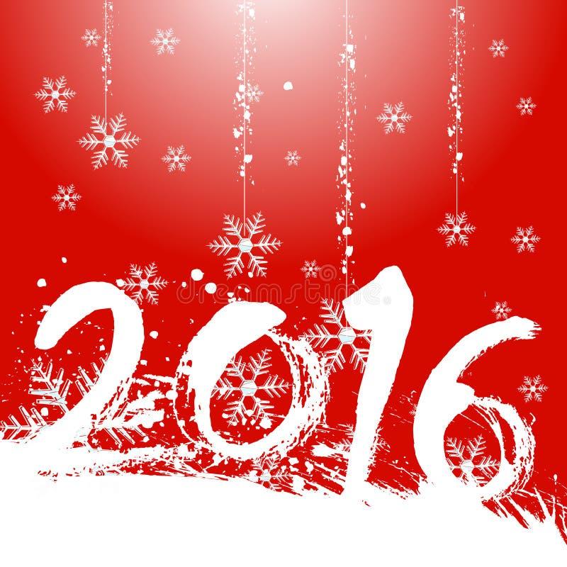 Дизайн рождества 2016 с красной предпосылкой иллюстрация штока