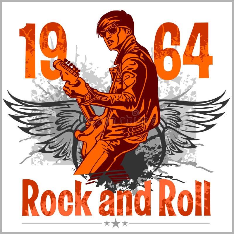 Дизайн рок-н-ролл - плакат вектора бесплатная иллюстрация