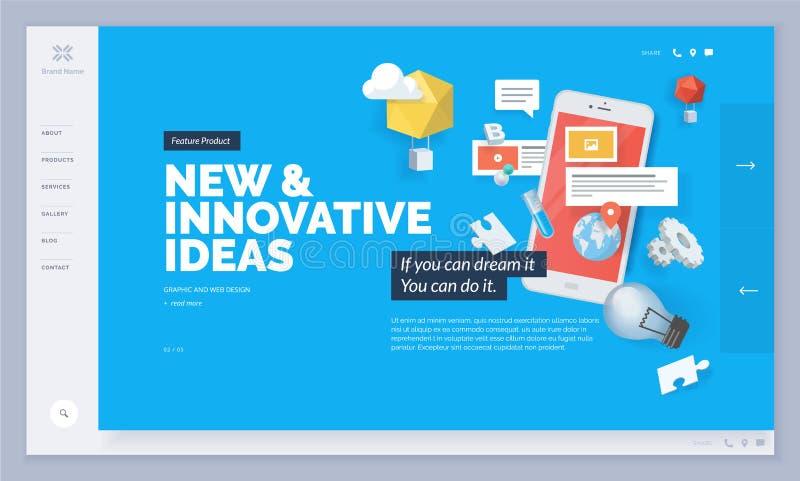 Дизайн сайта иллюстрация штока