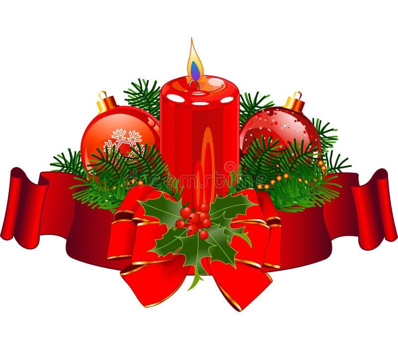 Дизайн свечи рождества иллюстрация штока
