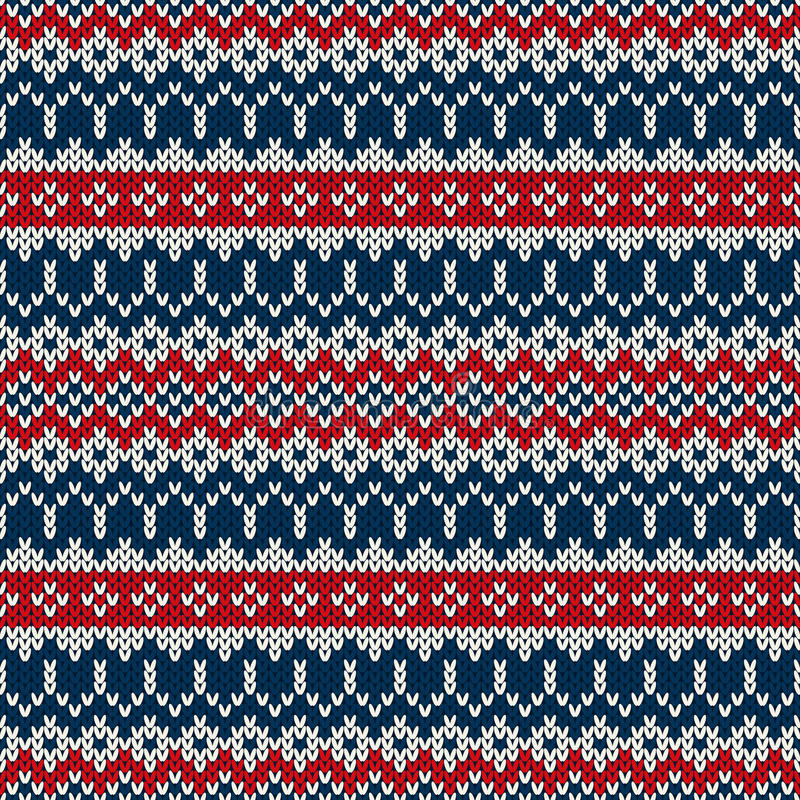 Дизайн свитера зимнего отдыха в традиционном справедливом стиле острова иллюстрация штока