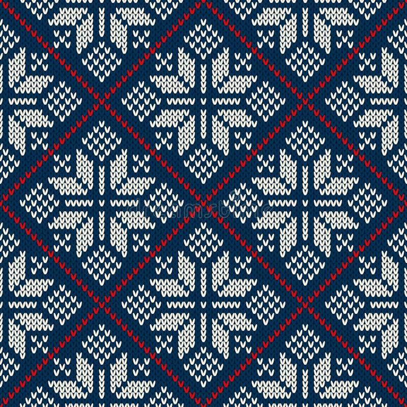 Дизайн свитера зимнего отдыха на шерстях связал текстуру бесплатная иллюстрация