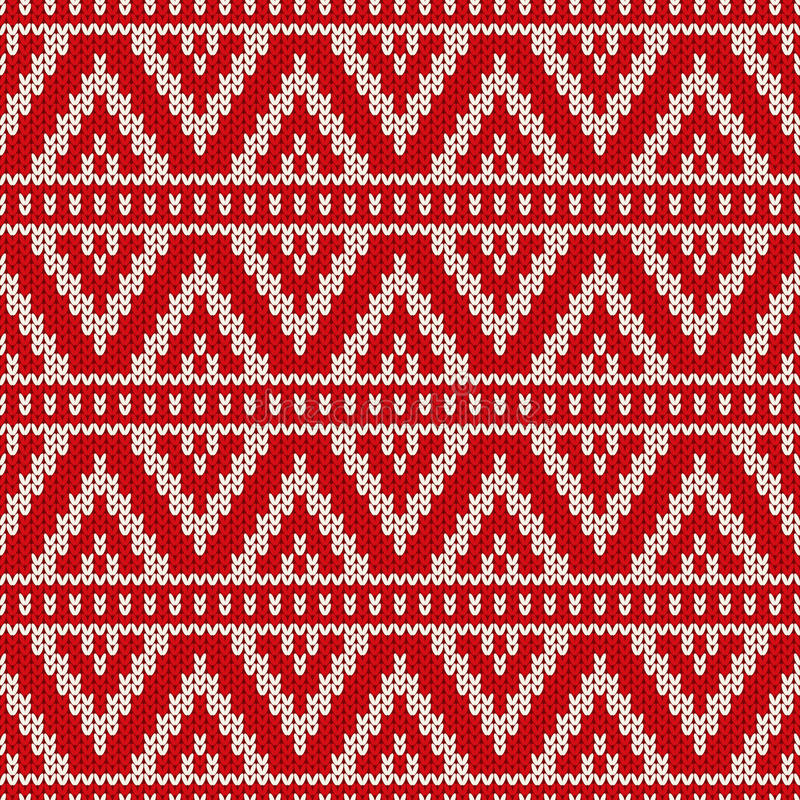 Дизайн свитера зимнего отдыха на шерстях связал текстуру иллюстрация вектора