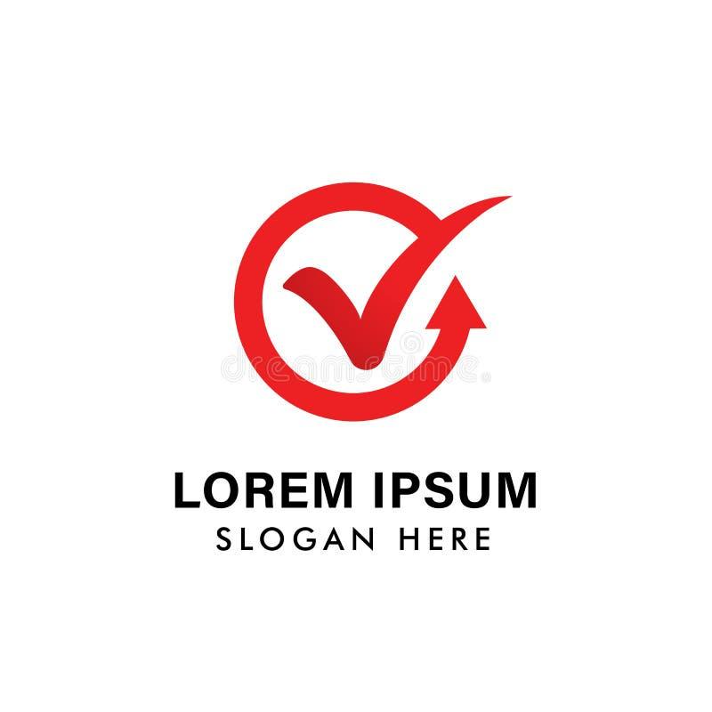 дизайн символа значка голосования шаблон вектора значка логотипа контрольной пометки иллюстрация вектора