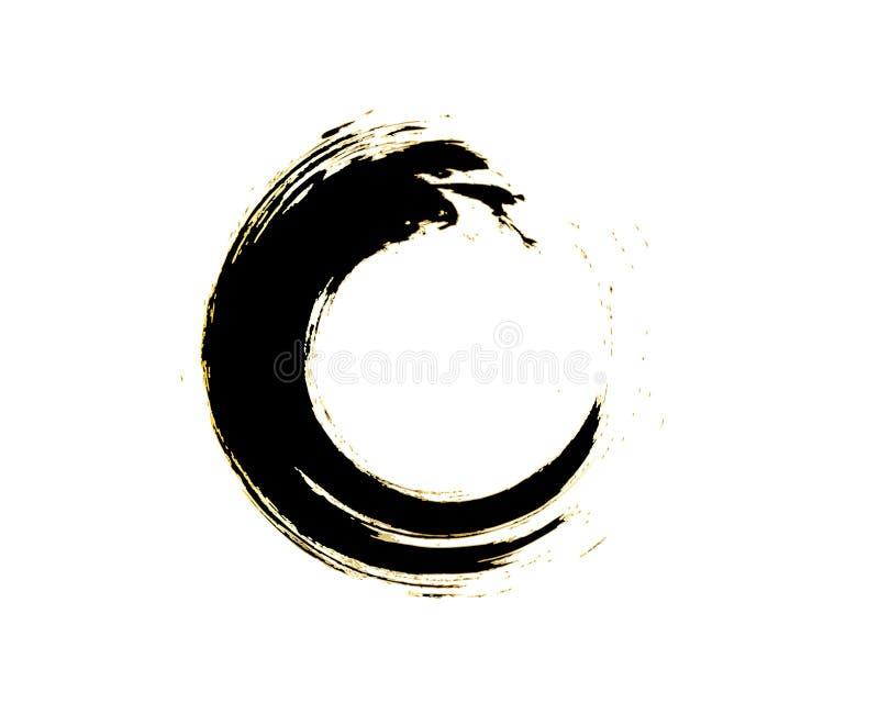 Дизайн символа Enso дзэна иллюстрация штока