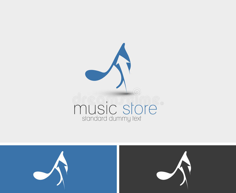 Дизайн символа магазина музыки бесплатная иллюстрация