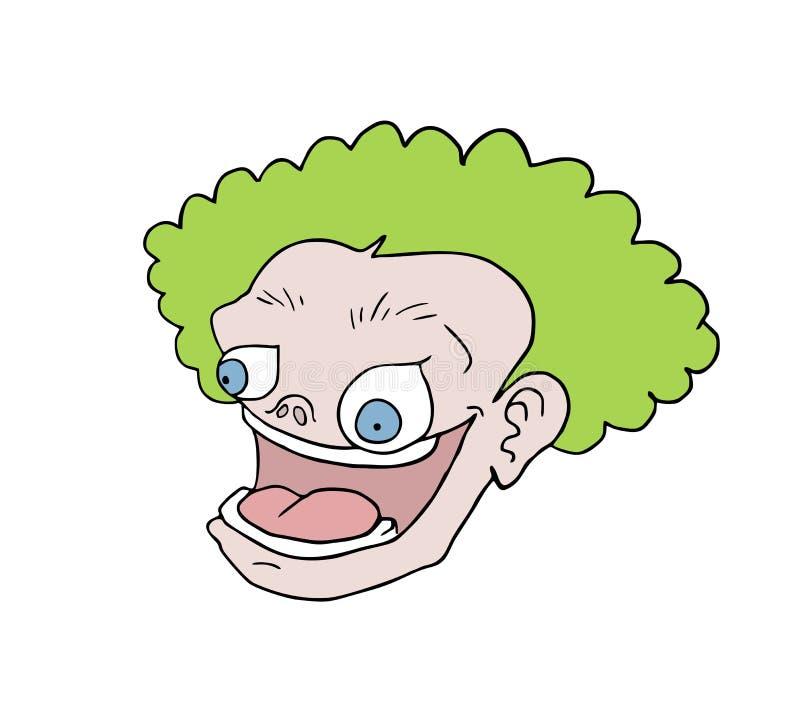 Дизайн смешной притяжки стороны мультфильма бесплатная иллюстрация