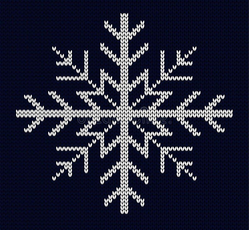 Дизайн снежинки Knit иллюстрация вектора