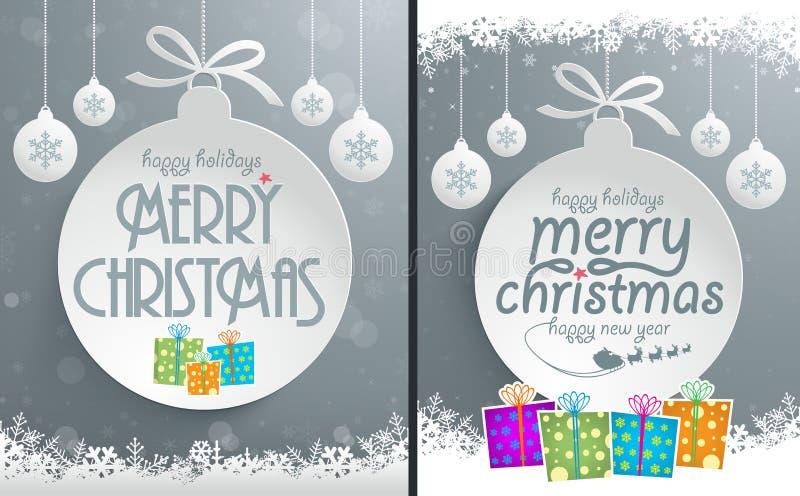 Дизайн сообщения рождества иллюстрация вектора