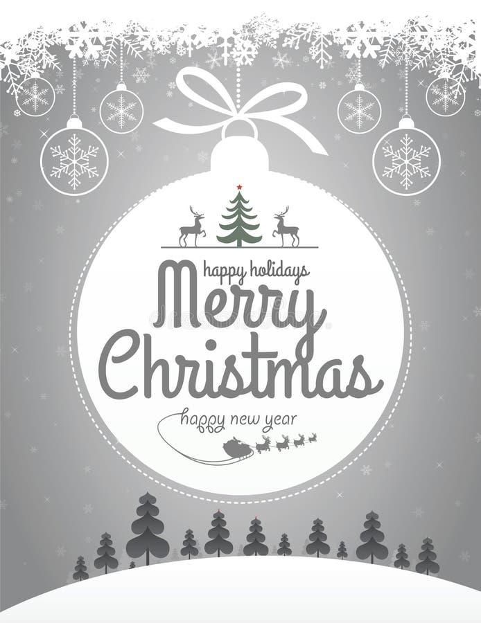 Дизайн сообщения рождества бесплатная иллюстрация