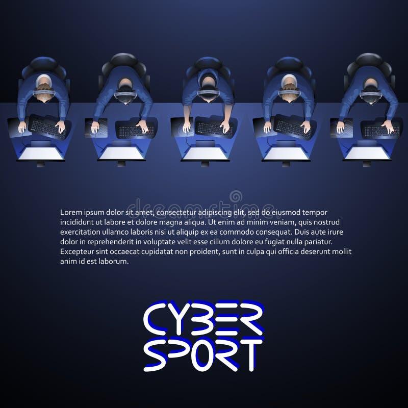 Дизайн спорта кибер иллюстрация штока