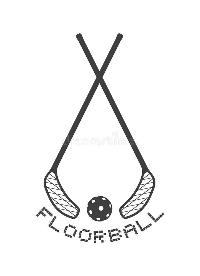 Дизайн спорта Floorball иллюстрация вектора