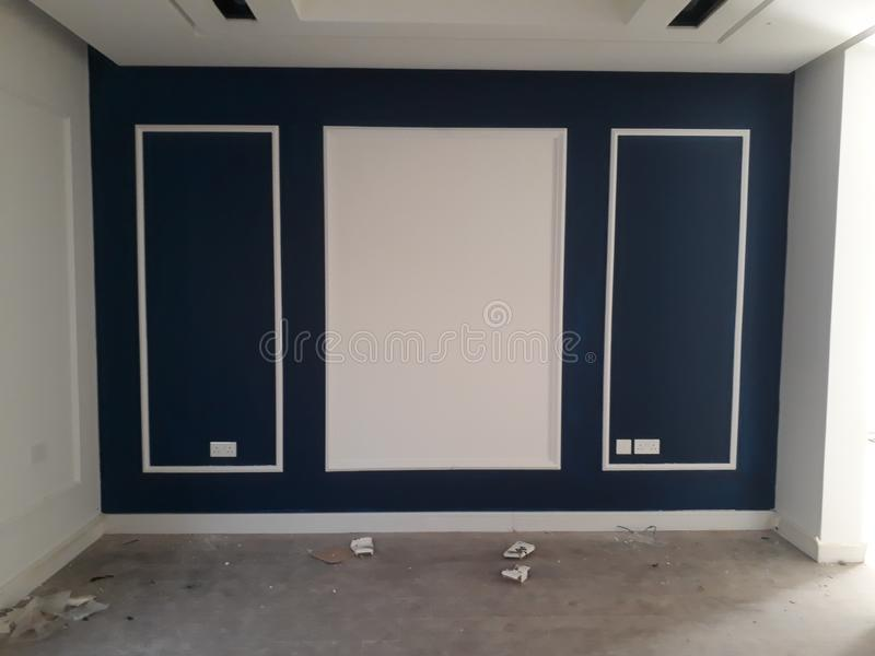 Дизайн стены для комнаты стоковые изображения