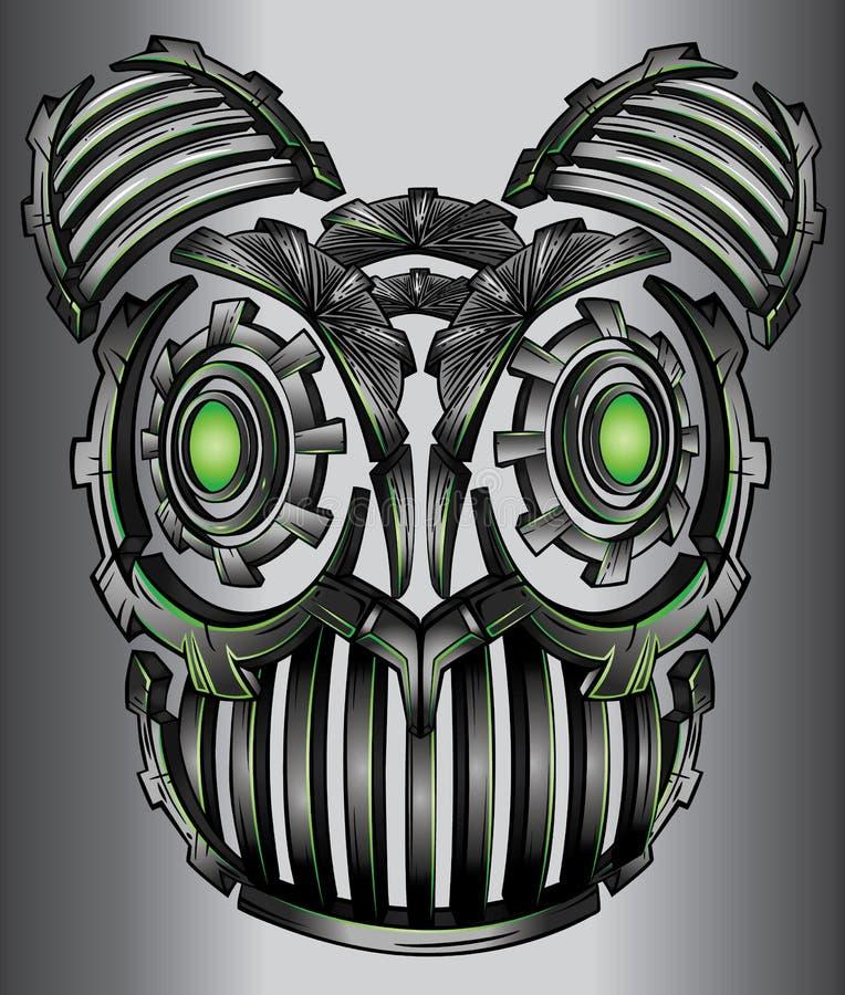 Дизайн стороны кота робота неоновой фантазии techno кибер цифровой бесплатная иллюстрация