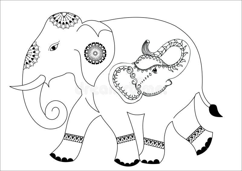Дизайн слона стоковое изображение rf