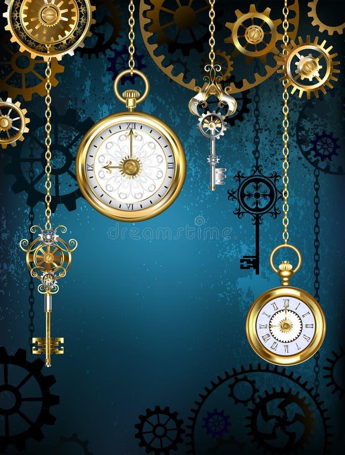 Дизайн с часами и шестернями бесплатная иллюстрация