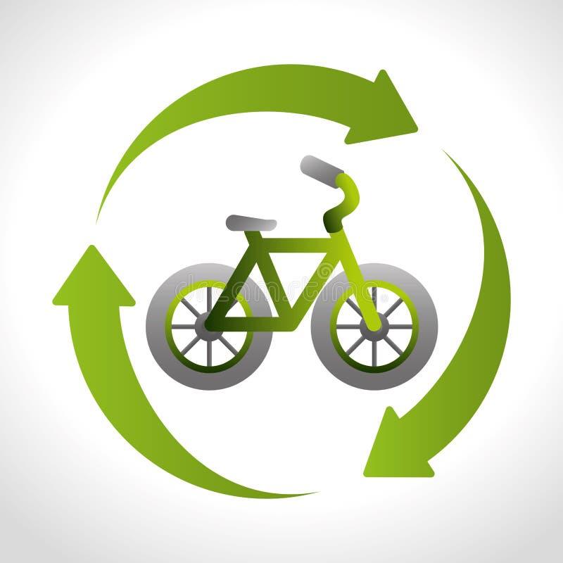 Дизайн темы велосипеда перехода иллюстрация вектора