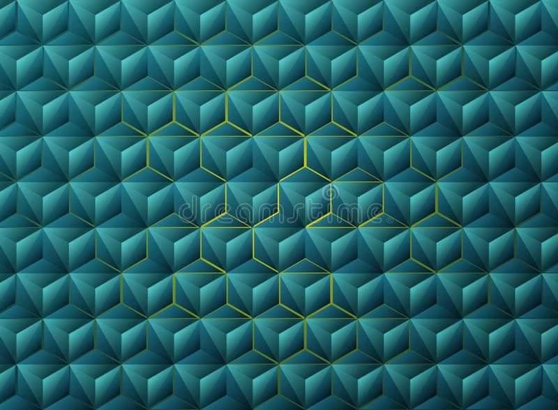 Дизайн техника голубых треугольников градиента конспекта геометрический r иллюстрация вектора