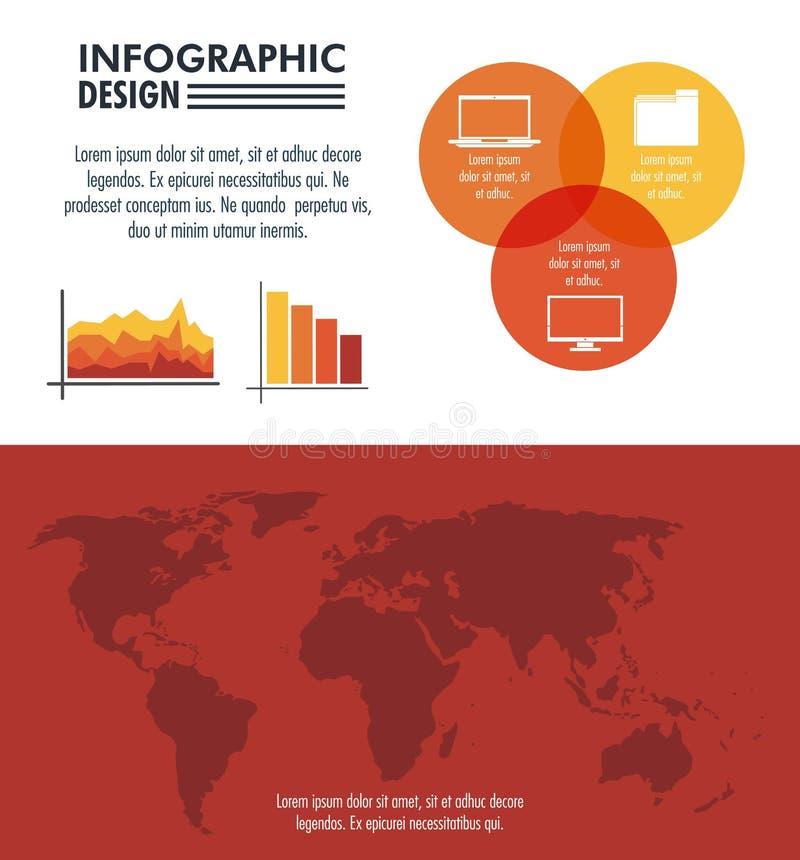 Дизайн технологии Infographic иллюстрация штока