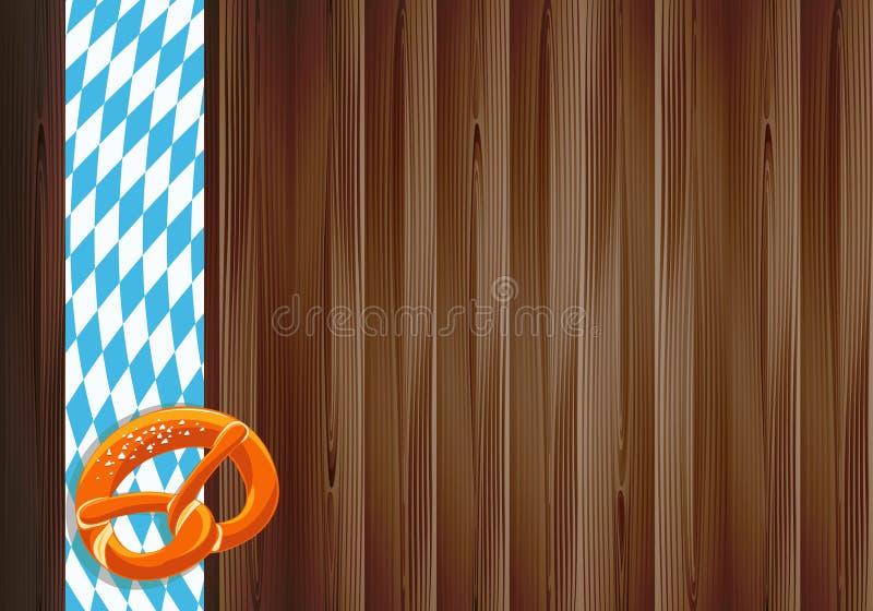 Дизайн торжества Oktoberfest с старой деревянной текстурой стоковое изображение rf