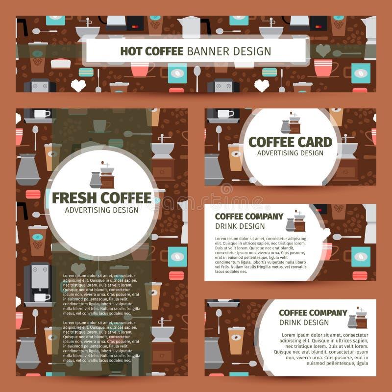 Дизайн фирменного стиля картины кофейни бесплатная иллюстрация