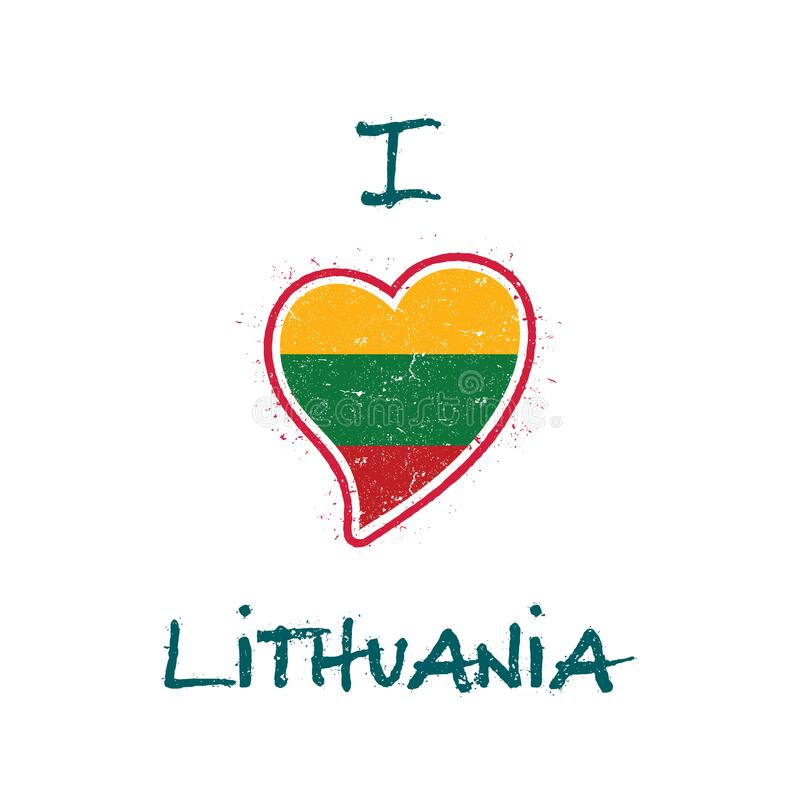 Дизайн футболки литовского флага патриотический иллюстрация штока