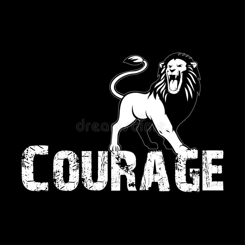 Дизайн футболки смелости стоковая фотография