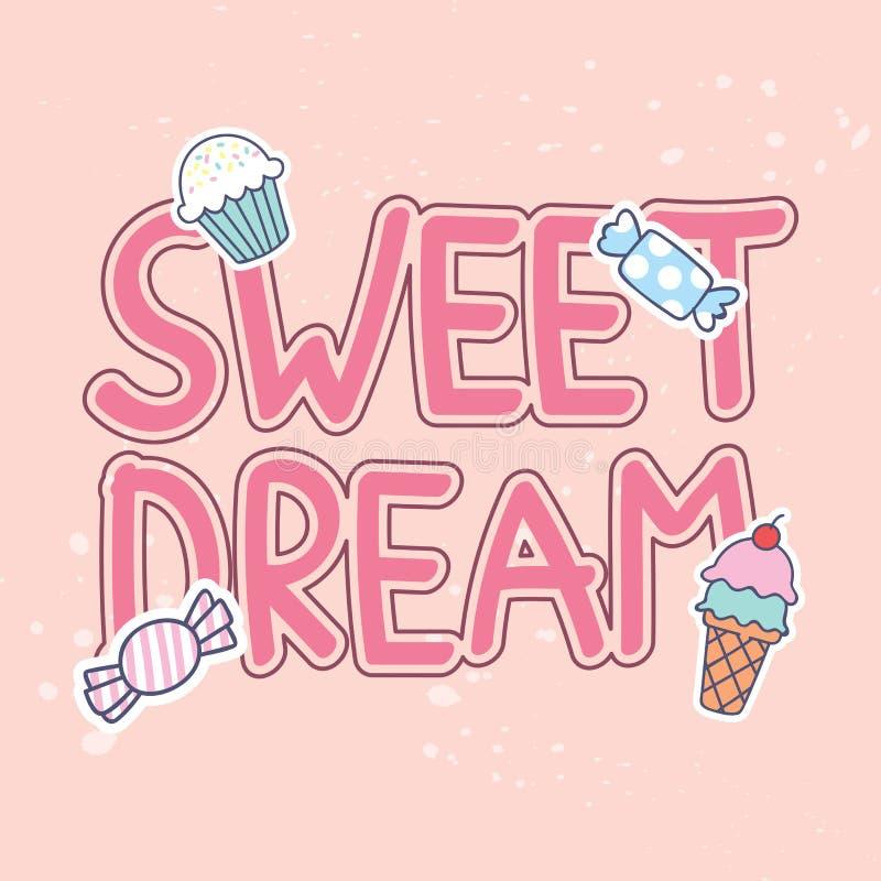 Дизайн футболки цитат с милыми заплатами бесплатная иллюстрация