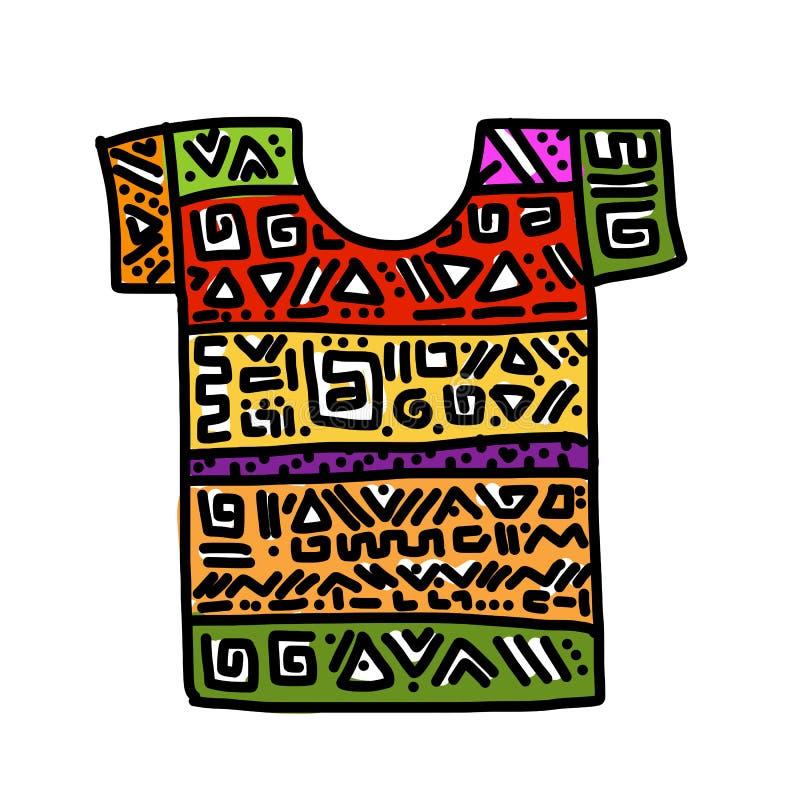 Дизайн футболки, абстрактного орнамента иллюстрация штока