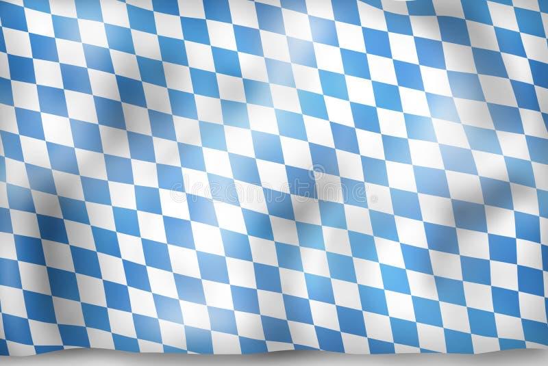 Дизайн флага Баварии иллюстрация штока