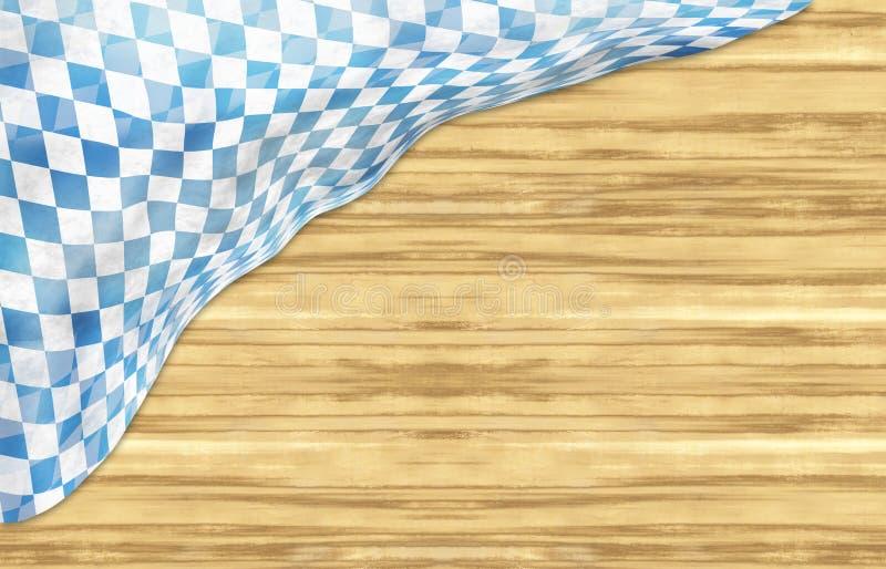 Дизайн флага Баварии Oktoberfest деревянный стоковая фотография rf