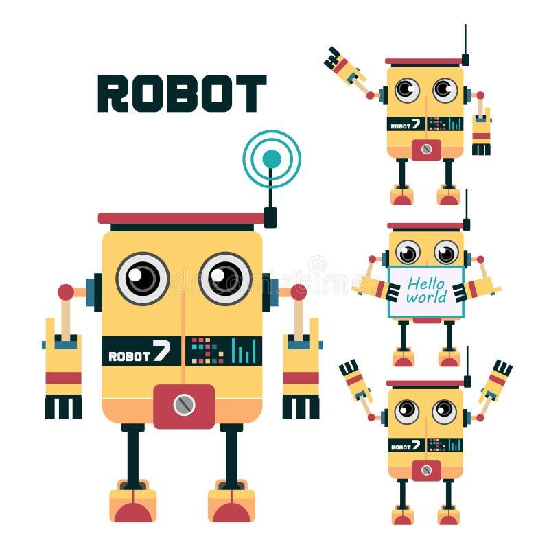 Дизайн характера робота бесплатная иллюстрация
