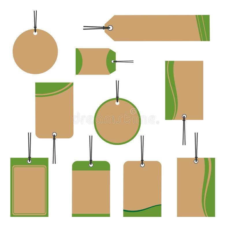 Дизайн ценников ретро иллюстрация вектора