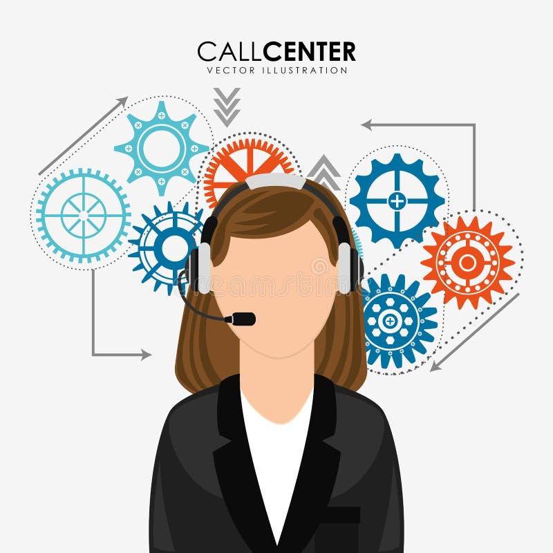 Дизайн центра телефонного обслуживания бесплатная иллюстрация